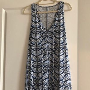 Lilly blue and white maxi dress